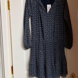 Brand-new Michael Kors navy patterned dress